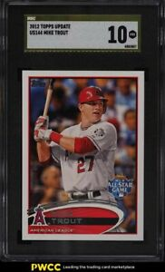 2012 Topps Update Mike Trout ROOKIE RC #US144 SGC 10 PRISTINE, GOLD LABEL
