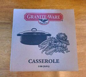 Granite Ware 3-Quart Covered Casserole 0613-2