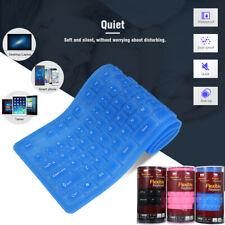 108 Keys USB Silicone Flexible Foldable Keyboard  Waterproof Dustproof USB K5X5