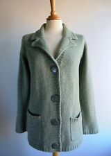 EWM Green Cardigan Coatigan with Pockets EDINBURGH WOOLLEN MILL Size 18 20