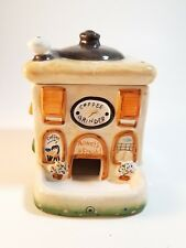 LEFTON 2004 Coffee Grinder People Treater Ceramic Cookie Jar Hand Painted