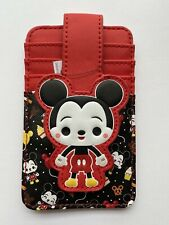 Loungefly Disney Parks Mickey Mouse Faux Leather Id Card Holder Chibi Food Icons