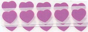 50 x 1 Inch Pink Heart Scratch Off Stickers - Wedding, Engagement, Anniversary