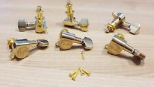 Gold Fender Logo Tuning Pegs / Machine Heads for Stratocaster / Telecaster