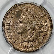 PCGS MS63 RB 1868 INDIAN HEAD CENT