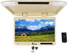 "Tview T257IR-TN 25"" Beige/Tan Flip Down Wide Screen TFT Car Monitor+Built In IR"