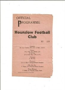 HOUNSLOW v HAYES Co. FC 1934/35 (?) (FA Amateur Cup Qualifying Round)