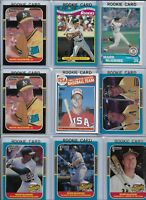 Mark McGwire A's Lot of (18) w/ (10) Rookies 1985 Topps #401 & 1987 Donruss #46