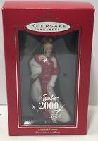 Hallmark Keepsake Barbie 2000 Porcelain Christmas Ornament