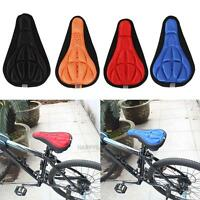 MTB Road Bike Bicycle Seat Saddle Cover Padding Soft Fabric Cushion Gym Sores
