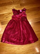 PINKY Red Dress 3T~  flowers sparkles EUC!