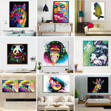 Unframed Colorful Art Canvas Animals Oil Painting Picture Home Wall Poster Decor