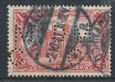 Reich stamps 1915 MI 94AII  PERFIN  CANC  VF