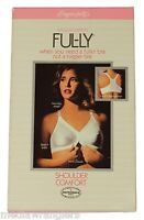 NEW VTG 80s Exquisite Form FUL-LY BRA Shoulder Comfort Front Closure 40B White