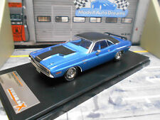 DODGE Challenger r/t Coupe Muscle car v8 us 1970 Blue me IXO premium x NEUF 1:43