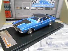 DODGE Challenger R/T Coupe Muscle Car V8 US 1970 blue me IXO Premium X  NEU 1:43