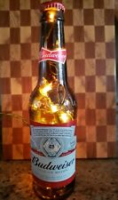 Budweiser Light up Beer Bottle