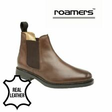 Roamers  BROWN Leather Chelsea Boots M278B