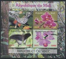 MALI - 2011 'BUTTERFLIES & ORCHIDS' Miniature Sheet CTO [C1878]