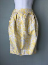 ASOS Yellow And Silver Floral Print Skirt US Size 2