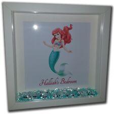 LITTLE MERMAID Personalised Diamante Box Frame - Disney Ariel Print and Frame