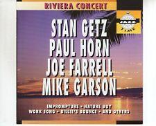 CD STAN GETZ / PAUL HORN / JOE FARRELL / MIKE GARSONriviera concertEX (B3599)