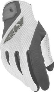 Fly Racing Ladies CoolPro II Gloves White/Gray Large #5884 476-62114