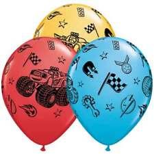 "6 pc 12"" Blaze & the Monster Machines Latex Party Balloons Happy Birthday Nick"