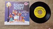 Vinyl Disneyland Record Christmas Carols Silent Night All Mouse Choir 45 Rpm -A