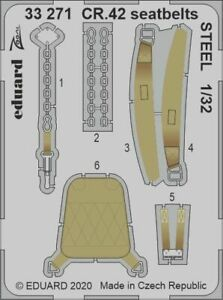 Eduard 1/32 Fiat CR.42 Seatbelts STEEL Zoom Set # 33271