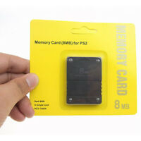 EG_ 2Pcs 8MB Memory Card Game Data Save Stick for Sony PlayStation 2 Console Gra