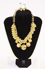Necklace & Earrings Set Premium Fashion Jewelry Gold Tone Round Balls JXCO New