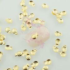 500 Pineapple Studs Rivet Slice Gold Metallic Nail Art Design Decor Summer Style