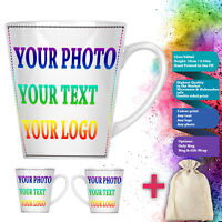 Customized Personalised Custom Printed Any Text Picture Logo 12oz Latte Mug