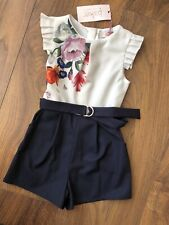 New Ted Baker Girls Playsuit Jumpsuit Size 4-5 Years