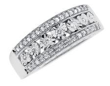 White Gold Finish Ladies Round Diamond Heart Fashion Promise Band Ring 0.25 ct