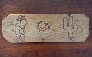 Rustic Southwest Key Hook Holder Wall Mount Western Dog Leash Organizer Wood