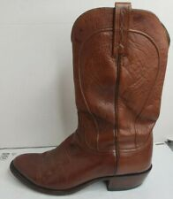Lucchese 1883 Mens Sz 10 D Cowboy Boots N1596.R4 Brown Soft Leather Broke In EUC