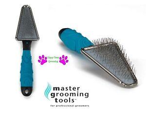 Master Grooming Tools TRIANGLE SLICKER BRUSH ERGONOMIC Handle Dog Cat Dematting