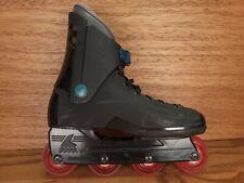 Vintage Rollerblade TRS Lightning Black Teal Inline Skates Mens Sz 9.5 EUR 43.5