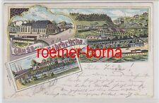 75793 Ak Lithografie Gruss aus Fährbrücke Gasthof zur Fähre 1907