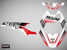 Kit deco KUTVEK Yasuni Factory rouge/blanc MBK X-Limit/Yamaha DT50