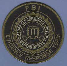 FEDERAL BUREAU OF INVESTIGATION EVIDENCE RESPONSE TEAM CSI POLICE PATCH GREEN