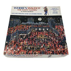 Where's Waldo Jigsaw Puzzle Nasty Nasties 1991 Vtg Martin Hanford 010563092411