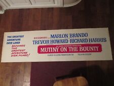 Mutiny On The Bounty   -   1962  Movie Poster Banner - Marlon Brando