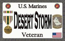 Marine - Desert Storm - Magnetic Car Sign - 6in X 3.75in