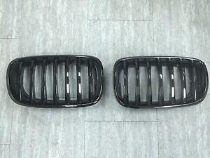 Front Kidney Hood Grilles Black Chrome For '2007-'2013 BMW E70 X5,E71 X6