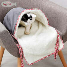 Cat Sleeping Bag Warm Cat Kennel Cave Soft Fleece Warm Removable Nest Cave Bed