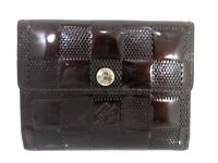 Auth Louis Vuitton Damier Vernis Ludlow M92135 Coin Purse Patent Leather 55128