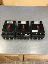 Lot of 3 GE THED136015 3 POLE 15 AMP 600 VOLT Circuit Breaker